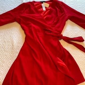 New Red Wrap Dress